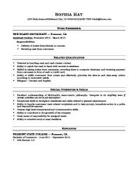 Sample Resume Cashier