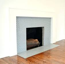 tile brick fireplace pictures over glass surround around gas