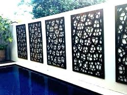 outdoor privacy screen panels decorative screens garden and metal web panel canada