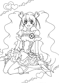 Pretty Cure Anime Girls Coloring Pages