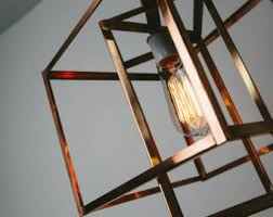 industrial lighting bare bulb light fixtures. Pendant Light - Industrial Lighting Geometric Copper Cage Hanging Edison Lamp Chandelier Standard Size Bare Bulb Fixtures E