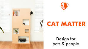 Cat tree and bookcase, the Cat Case is a modular, reconfigurable and easy to