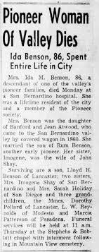 Ida M Benson Obit - Newspapers.com
