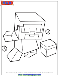 Small Picture Cute Baby Mini Steve Coloring Page H M Coloring Pages