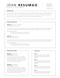Miltiades Simple Resume Template With Framed Parts Resumgocom