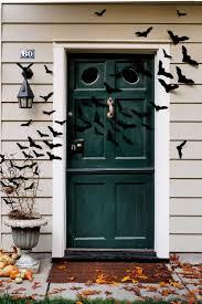 Diy swarming bat halloween door