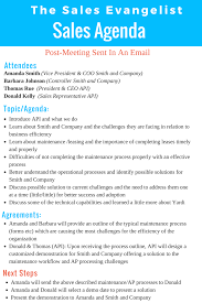 Sales Meeting Topic Tse 140 How I Use An Agenda When Meeting With Clients