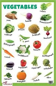 Vegetables Chart Buy Vegetables Thick Laminated Primary Chart Book Online