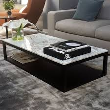 coffee table verona marble coffee table in calacatta gold marble top with wenge base oval
