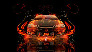 toyota mark 2 jzx90 jdm fire abstract car