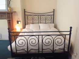 black metal bed. Ikea Black Double Metal French Bed Frame Stead T
