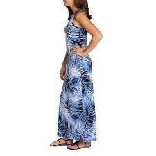 Mario Serrani Ladies Maxi Dress Blue Palm Print
