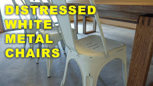 distressed metal furniture. BEST Distressed White Metal Chairs Furniture