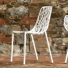 fast forest stackable aluminum garden chair made in italy