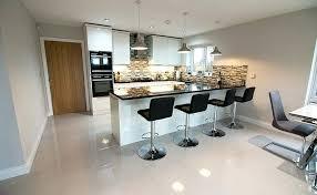 high gloss tiles this open plan kitchen dining area has lovely white high gloss tiles on high gloss tiles