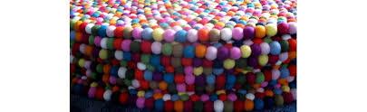 round felt ball rugs