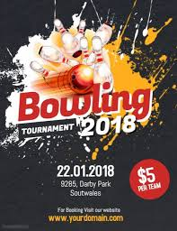 Bowling Event Flyer Bowling Tournament Flyer Poster Bowling Event Flyer