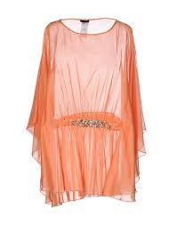 Pinko Online Shop Pinko Skin Tunika Und Kaftan Orange Baumwolle