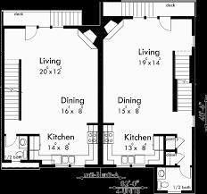 Four plex House Plans  Unit Multi Family House Plans  F  Main Floor Plan for F  Four plex house plans  unit multi