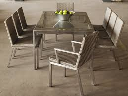 ... Dining Room Table, Best Silver Rectangle Modern Stainless Steel With 8  Chairs Dining Table Ideas ...