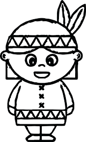 Coloring Pages Of Indians Girl Coloring Pages Free Book Mandala In 2
