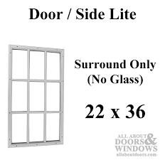 therma tru 22 x 36 x 1 2 9 lite surround no glass door lite therma tru door lite without glass