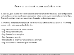 job recommendation letter samples financial assistant recommendation letter 1 638 jpg cb 1409086028