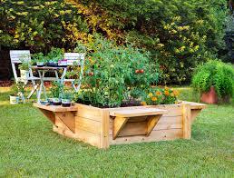 top raised bed vegetable garden