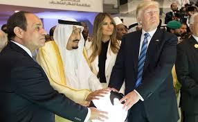 Hasil gambar untuk Trump, Muhammad bin Salman, al-Sisi dan Israel