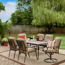 sears outdoor dining table. garden oasis brookston 7-piece dining set - stone sears outdoor table s