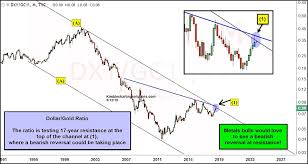 Gold In Dollar Chart Us Dollar Gold Ratio Undergoing A Critical Test See It