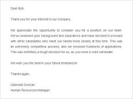 Ideas Collection Nice Job Rejection Letter Sample Nice 29 Rejection