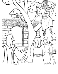 Or sometimes you just need to fill in those last five minutes before the end of class. Jesus And Zacchaeus Coloring Page Coloring Home