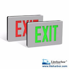 Ul Listed Super Slim Aluminum Body Material Red Or Green Color Exit