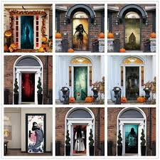 Pumpkin Bat Halloween Door Cover ...