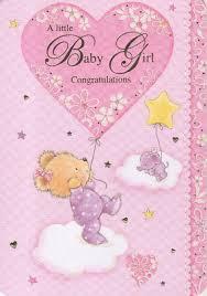 A Little Baby Girl Congratulations Newborn Card 2 30