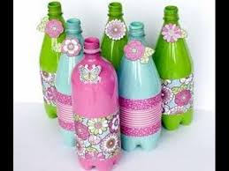 How To Decorate Plastic Water Bottles Decoration with reuse Empty Cold Drink Bottles simple and easy 2