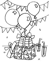 Ballonnen En Cadeaus Kleurplaat