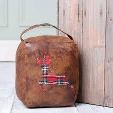 Personalised Christmas Gift Highland Stag Door Stop - door stops & draught  excluders