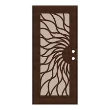 aluminum security screen door. Unique Home Designs 36 In. X 80 Sunfire Copperclad Left-Hand Surface Aluminum Security Screen Door