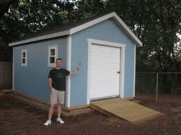 garage door for shedThis 12x16 shed with gable style roof has a 6 wide 7 tall roll