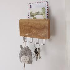 2018 Wood Mounted Key Holder Mail Letter Box Rack Wall Door 4 Key Hook  Storage Organiser Entreway From Top_seller_2014, $19.29   Dhgate.Com