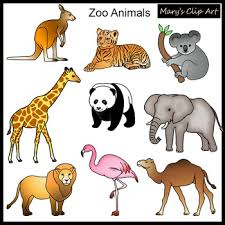 zoo animals clipart. Simple Zoo Zoo Animals Clipart In M