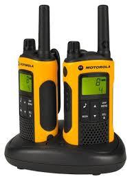 motorola yellow walkie talkie. walkie talkie in black charging base motorola yellow