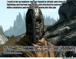 Skyrim Guard Quotes Fascinating Skyrim Guard Logic By Machugo Meme Center