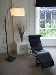 classic chaise with floorstanding lamp