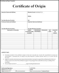 Blank Certificate Of Origin Form Blank Certificate Of Origin Form Complete Guide Example 1