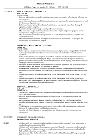 Electrical Technician Resume Sample Electrical Technician Resume Samples Velvet Jobs 4