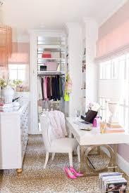 closet to office. dream closet office space on pink peonies by rach parcell we love seeing the gold desk from bernhardtu0027s salon collection in this design to
