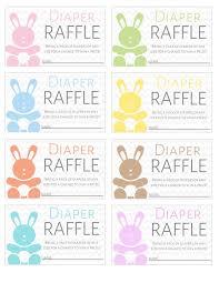 Raffles Tickets Free Printable Diaper Raffle Tickets